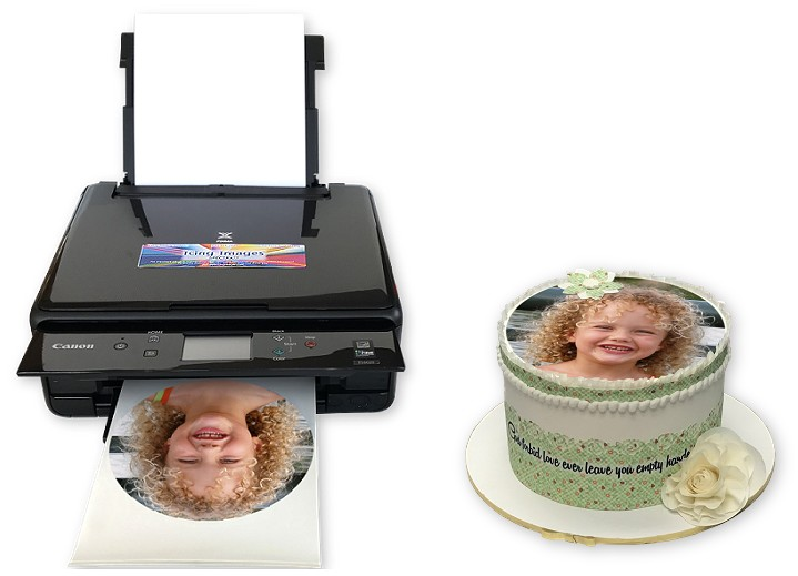 Edible Image Printer and Cake Decorated with Edible Picture
