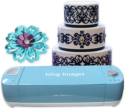 cut edible icing sheets and fondant using electronic cutters