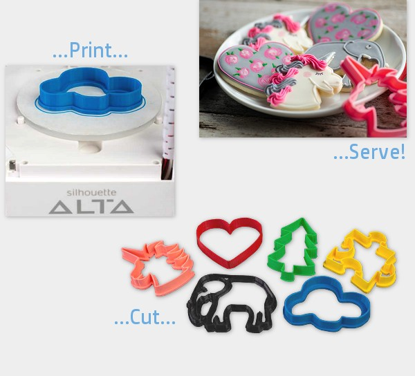 icing images create cookie cutters and cake toppers with 3-d printers